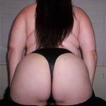 fat girl showing her big ass