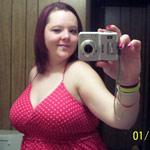 fat girl taking selfie